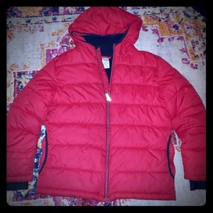 💚FADED GLORY PUFFER COAT red & black boy sz 10/12